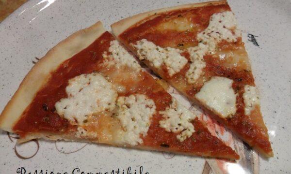 Pizza sottile e croccante senza glutine