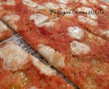 Pizza sottile senza glutine con lievito madre