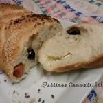 treccia di pane a fette