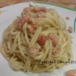 Spaghetti pesto di zucchine e pancetta