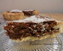 Crostata con crema di cioccolato e cocco