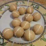 palline ripiene di crema al cocco