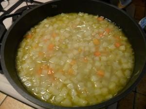 incoperchiare e cuocere per 60 minuti a fuoco dolce