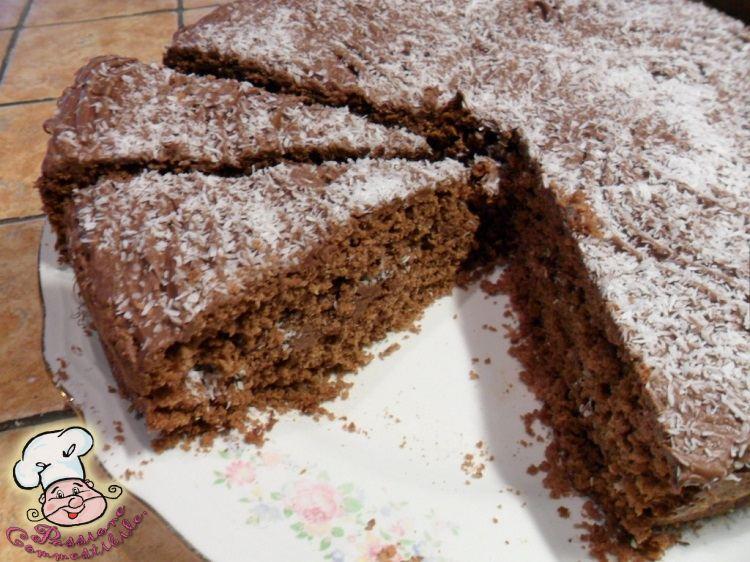 torta al cioccolato fondente e cocco