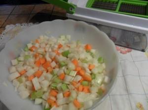 verdura a cubetti