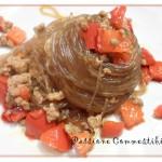 Spaghetti di soia e peperoni