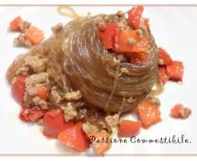 Spaghetti di soia ai peperoni