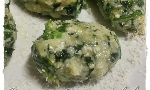Gnocchetti integrali agli spinaci