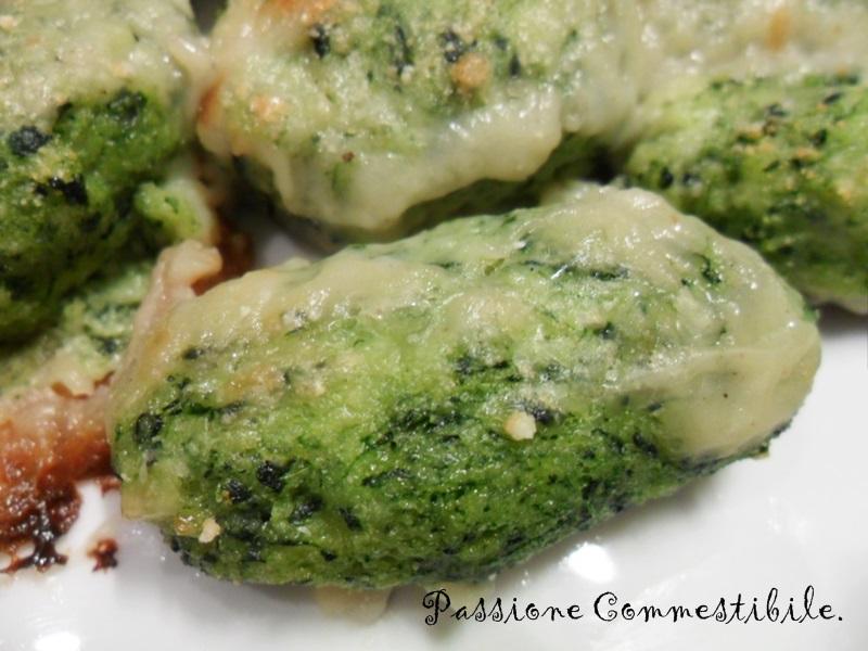 Gnocchi verdi gratinati