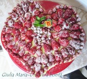 torta cuor di fragola