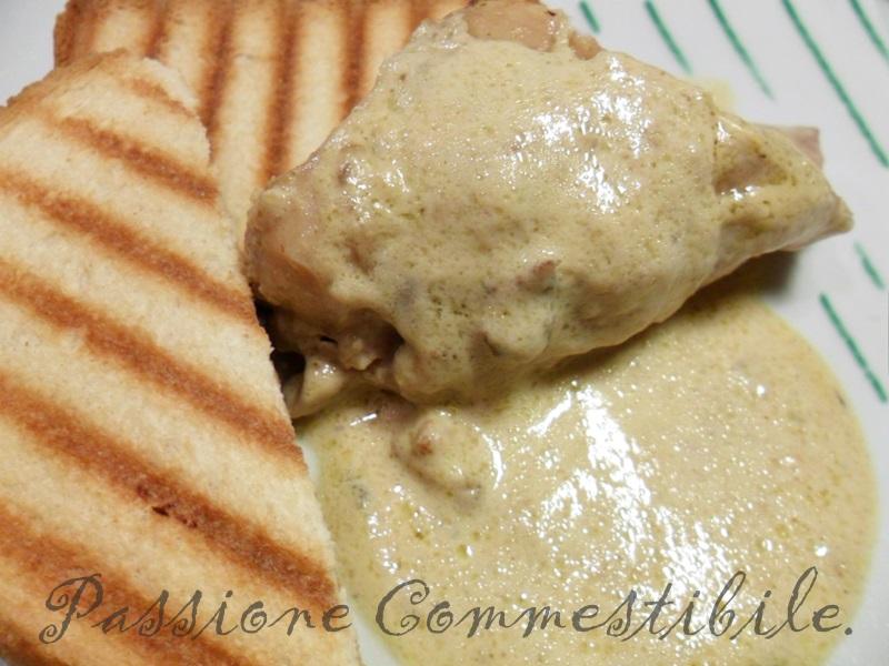 coniglio con salsa alla senape