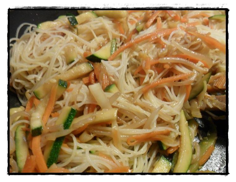 spaghetti di riso in salto