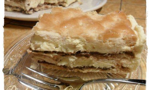 Millefoglie con crema/Chantilly e nutella