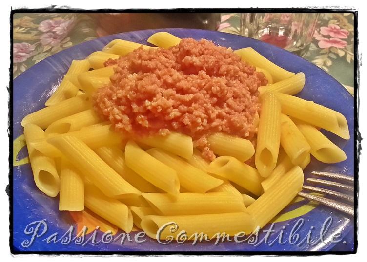 ragù sulla pasta