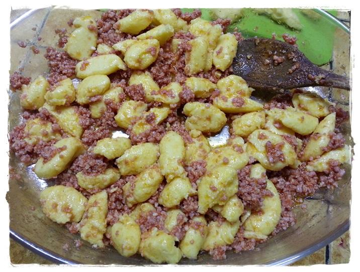 gnocchi di polenta conditi