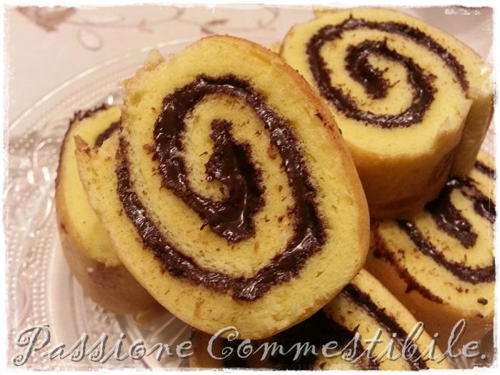 swiss roll alla crema di cacao