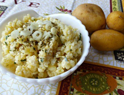 Insalata di patate schiacciate