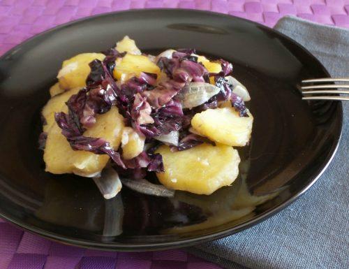 Contorno di patate e radicchio