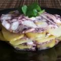 Millefoglie polipo e patate