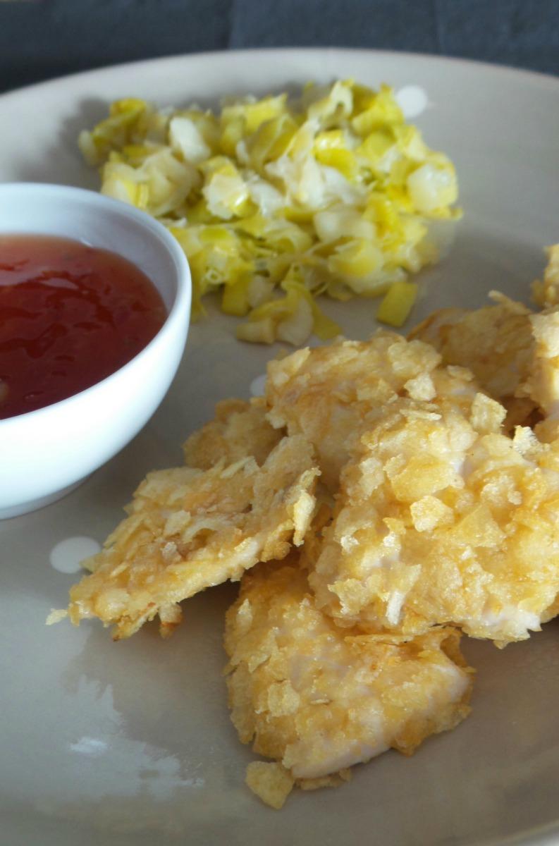 Bocconcini di pollo con panatura di patatine