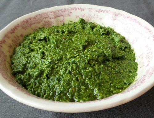 Pesto di spinacini freschi