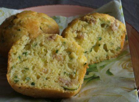 Muffin salsiccia e zucchine
