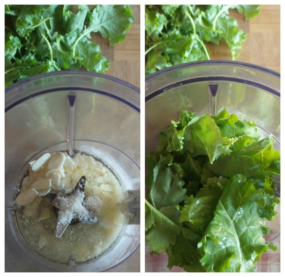 pesto di kale e mandorle