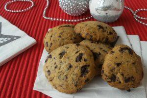 Simil cookies zenzero e cioccolato fondente