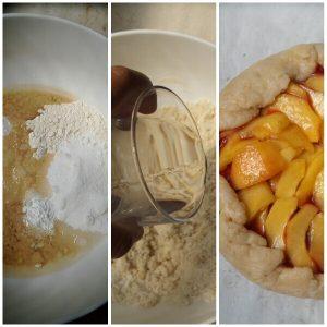 Galletta pesche e marmellata di fragole