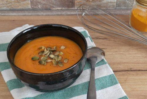 Vellutata di carote alla curcuma