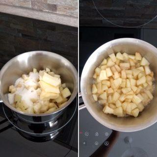 Torta integrale di mele frullate