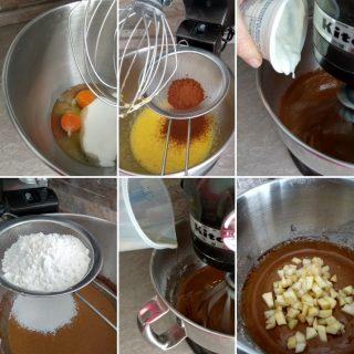 Plumcake al cacao con mele e pere