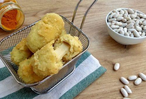 Crocchette di fagioli con scamorza filante