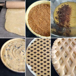 Crostata con crema pasticcera e cioccolato