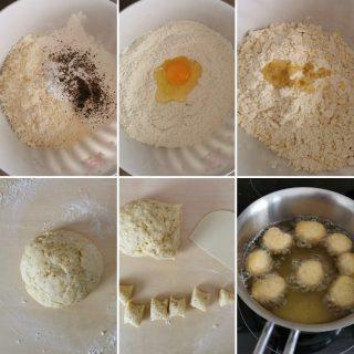 castagnole salate pepe e parmigiano