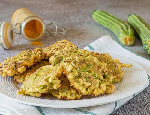 Frittelle di zucchine al curry