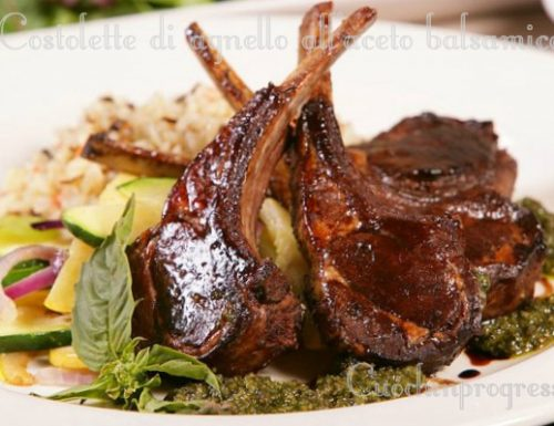 Costolette di agnello all'aceto balsamico