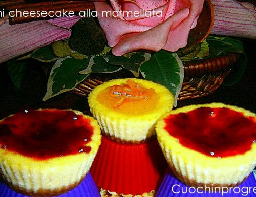 Cheesecake finger food alla marmellata