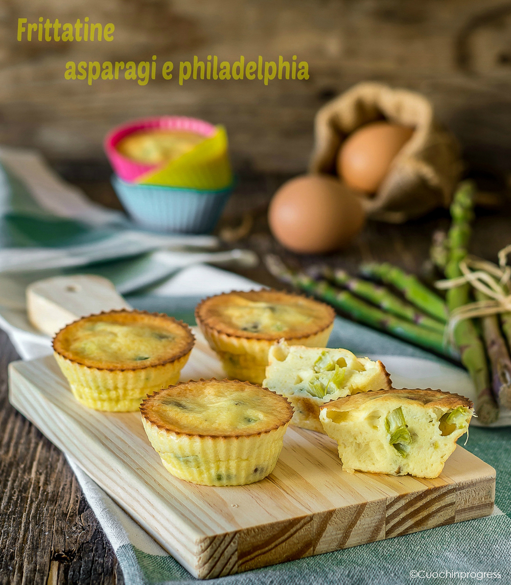 frittatine asparagi e philadelphia