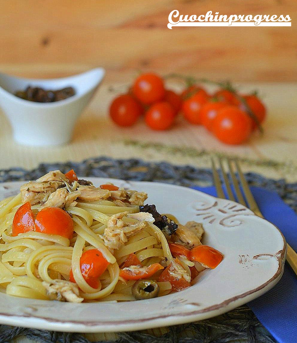 linguine tonno e olive