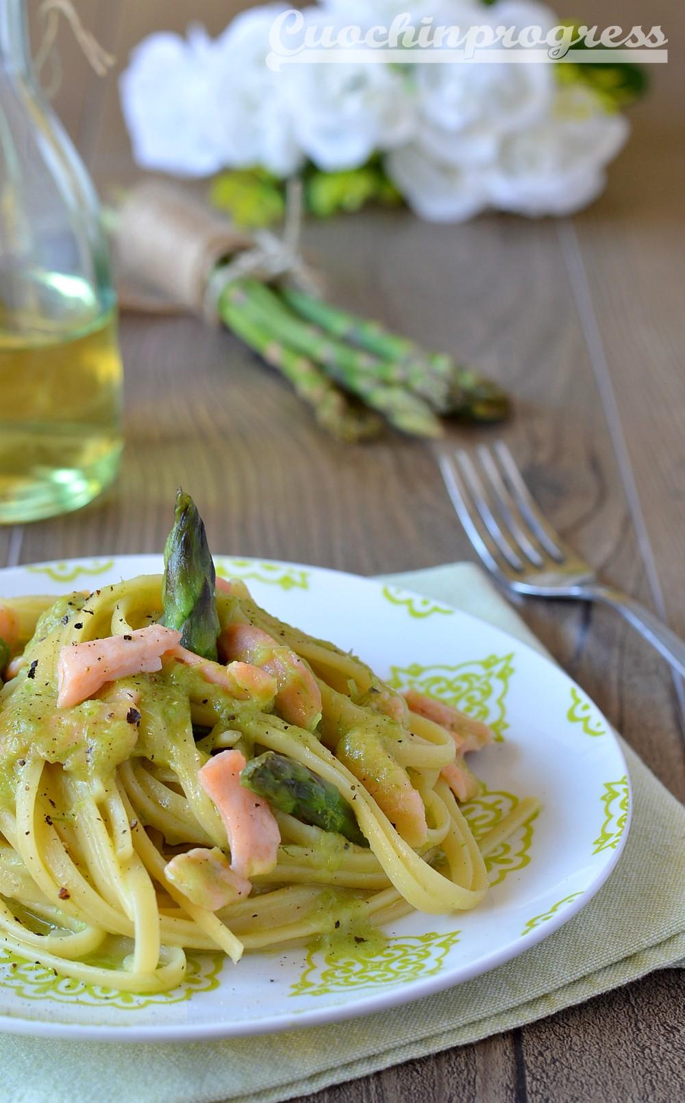 linguine asparagi e salmone