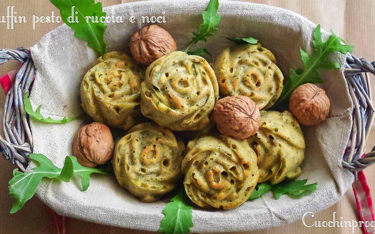 Muffin rucola e noci