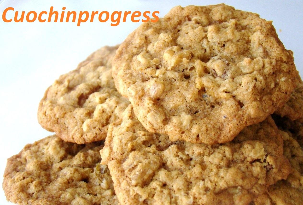 biscotti farina d'avena e noci
