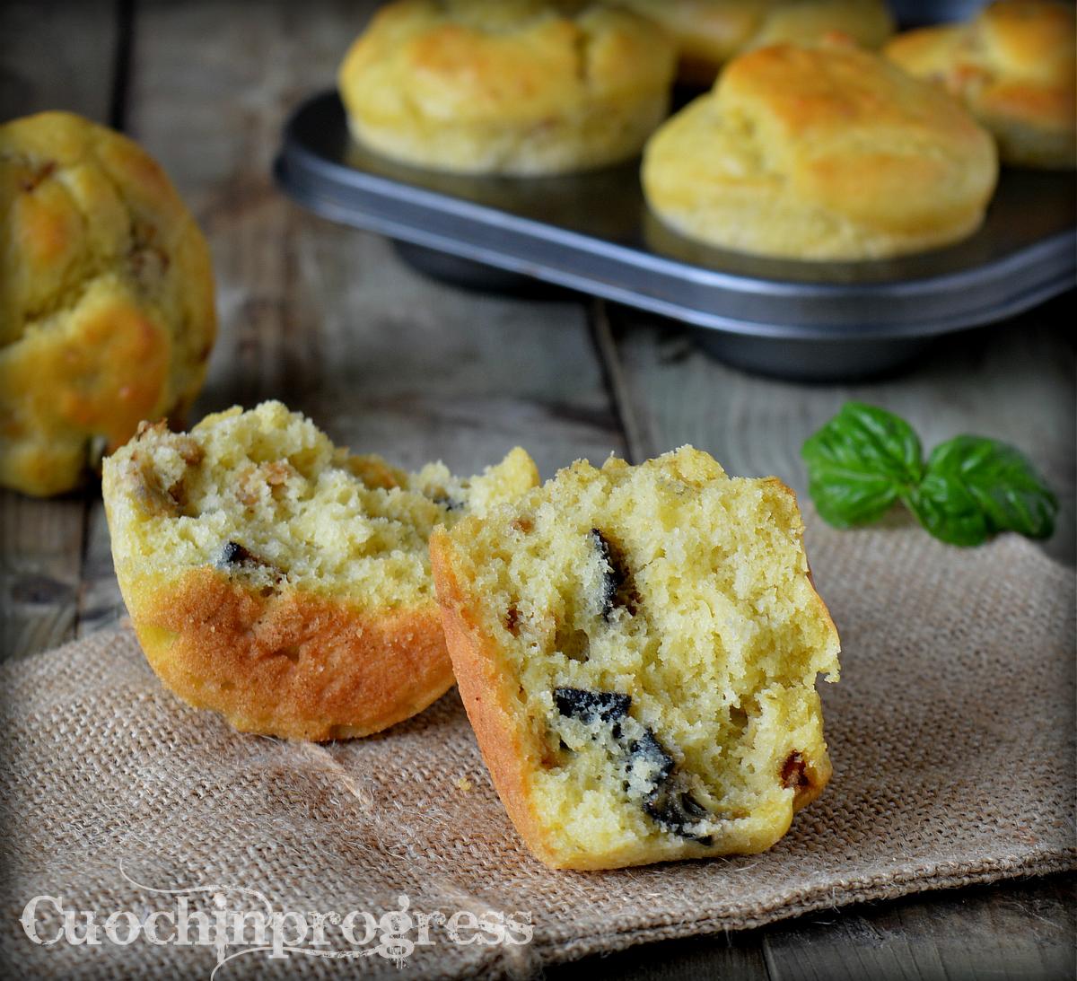Muffin melanzane e pesto