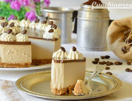 Cheesecake fredda al caffè