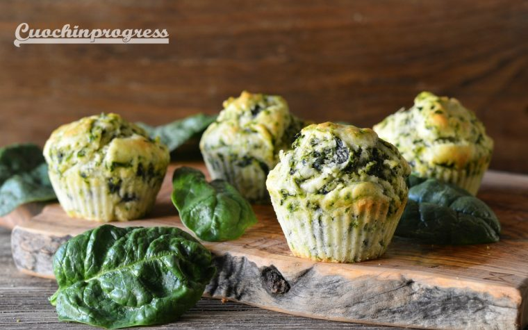 Muffin agli spinaci