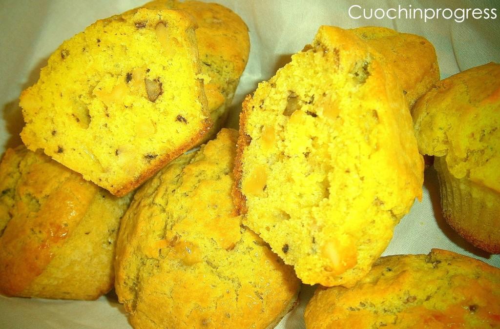 muffin gorgonzola pesto noci