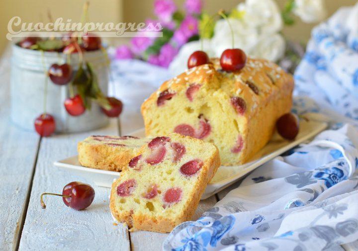 plumcake ciliegie