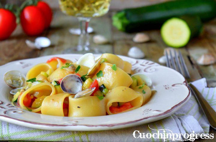 calamarata vongole e zucchine