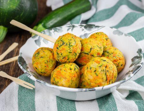 Polpette zucchine e carote al forno